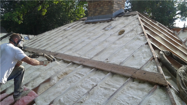 Ly Spray Foam To Vaulted Ceiling And Replace Roof